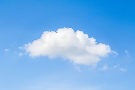 Cumulus clouds are dense, with bright white clouds during the day with significant vertical development. White clouds in the blue sky.