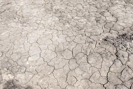 Fond gris de terre craquelée séchée