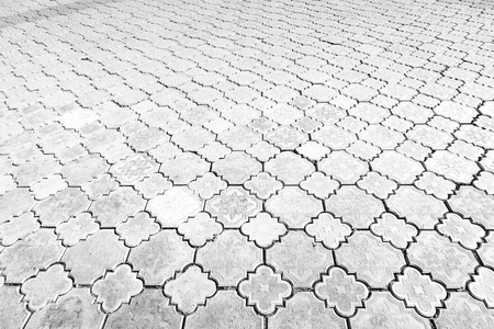 Concrete pavers street background texture.