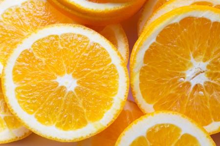orange slice: Close-up oranje slice achtergrond