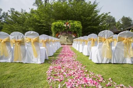 aisle: Wedding set up
