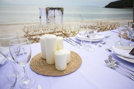 Nastavení Tabulka pro svatební hostinu nebo akci Reklamní fotografie