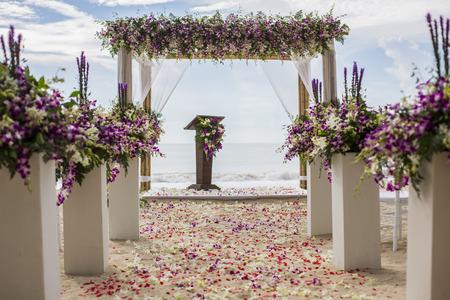 結婚式の設定 写真素材