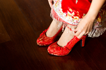 chaussures de mariage chinois