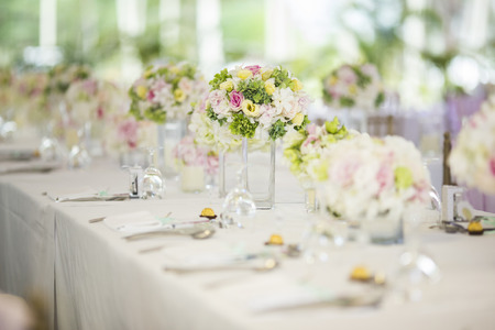 party decoration: Wedding table setting