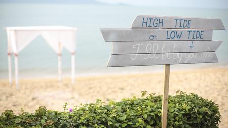 Wedding setting photo