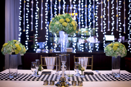 Table setting for an wedding reception or an event