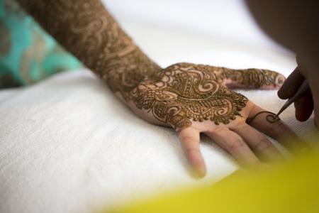 Henna hands Foto de archivo