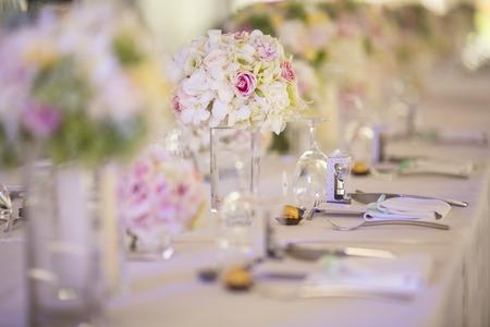 Wedding table setting photo