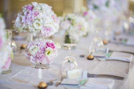 decoracion mesas: Ajuste de la tabla de la boda