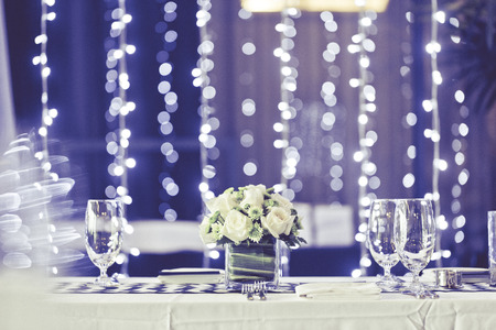 Table setting for an wedding reception or an event photo
