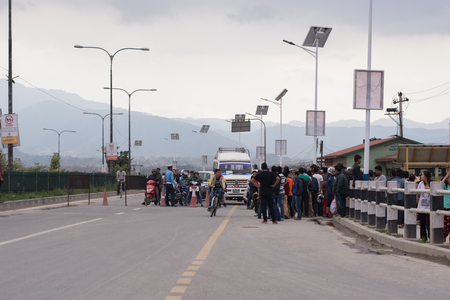 social history: 14 March 2017 : strict police check on Araniko highway on election day in Kathmandu Nepal Editorial