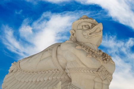 garuda: Garuda statue in public temple of Thailand