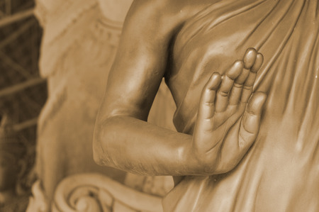 handsign: Hand of Buddha, Sepia, Earth tone