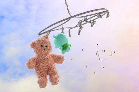 Lovely bear hangs around to refresh himself, Pastel style