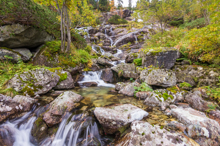 morskie: Photo was taken in High Tatras on Polish side  near Morskie oko lake ,Poland. Stock Photo