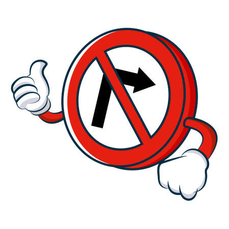 NO RIGHT TURN SIGN Illustration