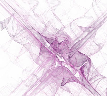 Abstract white background with thin purple fabric or smoke diagonal texture, fractal