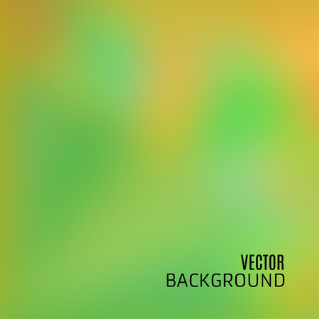Abstract green and orange background with  blurred and defocused texture, in vector Illustration