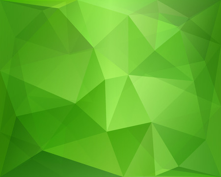 Green abstract polygonal background with geometric texture, suitable for Brazil flag, in vector