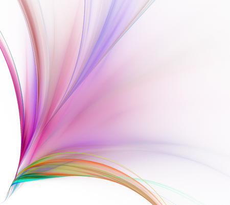 spectral colour: Abstract white background. Colorful explosion of rainbow stripes. Floral pink and purple pattern. Fractal texture.