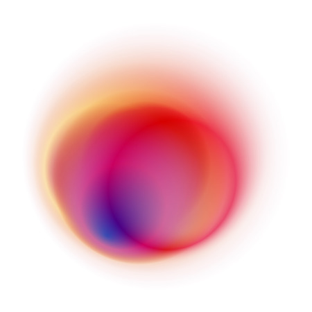 Red gradient circle isolated on white background. Yellow blurred ring pattern. Orange and blue radial spot with soft pastel texture. Foto de archivo - 93389308
