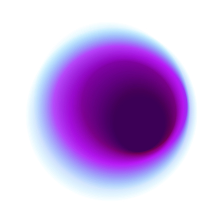 Purple blurred hole pattern. Blue gradient circle isolated on white background. Turquoise radial spot with round pink colored texture. Foto de archivo - 93447439