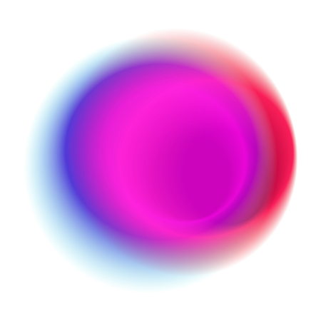 Pink gradient rings isolated on white background. Purple blurred blot pattern. Red radial spot with round rose colored vector texture.