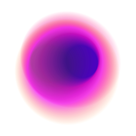 Purple blurred hole pattern. Pink gradient circle isolated on white background. Red radial spot with round rose colored texture.