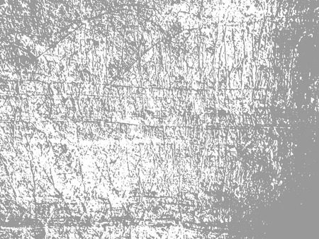 Rough scratched stone background texture. Gray lined sandstone wall or floor rock. Gray shaggy sand vector pattern. Vettoriali