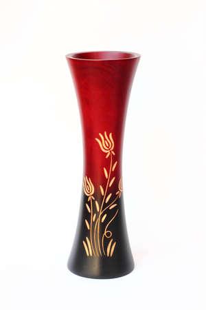 Wood vase photo