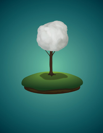 dream land: cloud on the tree
