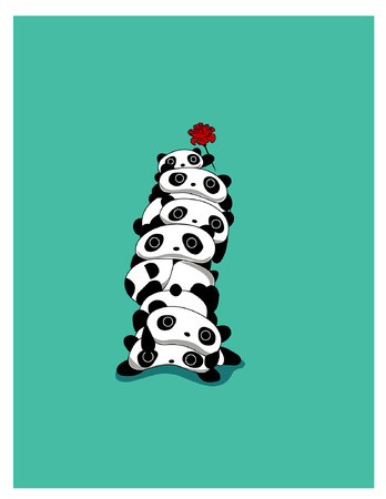 pandas pillar 向量圖像