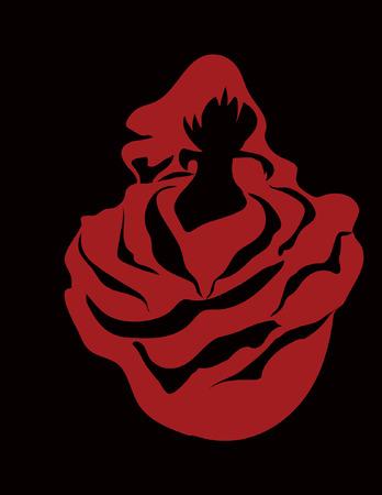 roze: woman in rose