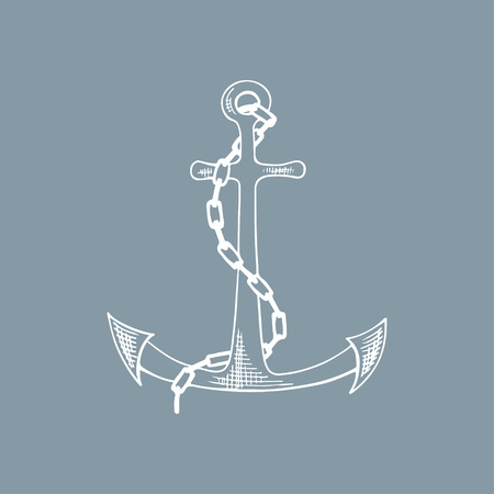 Anchor sketch. Hand drawn vector illustration.