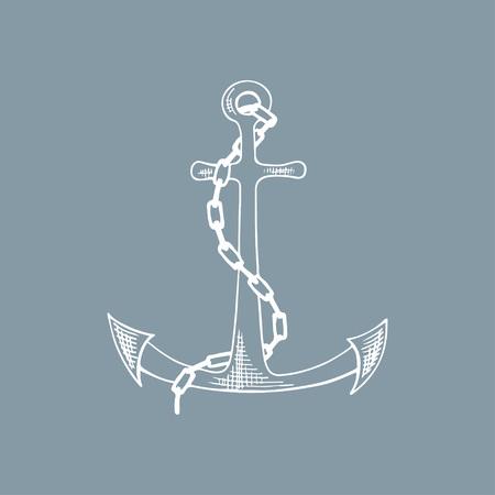 Anchor sketch. Hand drawn vector illustration.