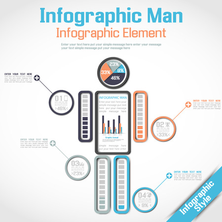 Infographic Human Icon Man Timeline Version Illustration