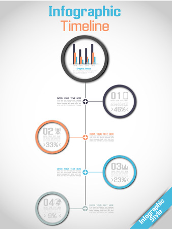 Infographic Timeline Modern Concept Stock Vector - 22606319