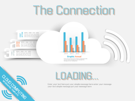 CLOUD COMPUTING TEMPLATE WEBSITE Illustration