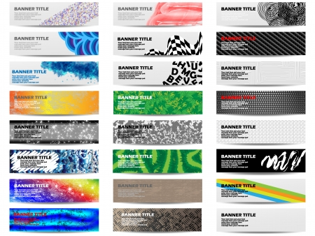 COLORFUL BANNER SET OF TWENTY-FOUR SET 5