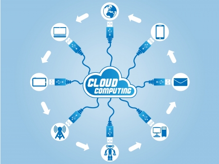 CLOUD COMPUTING USB Illustration