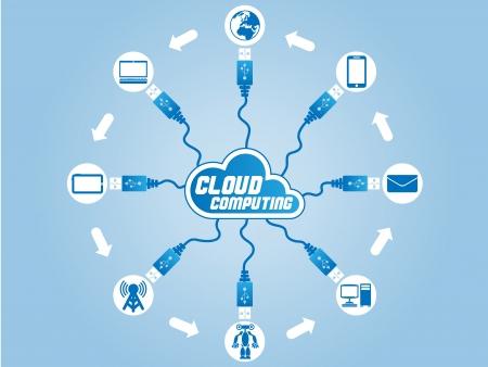 CLOUD COMPUTING USB Illustration