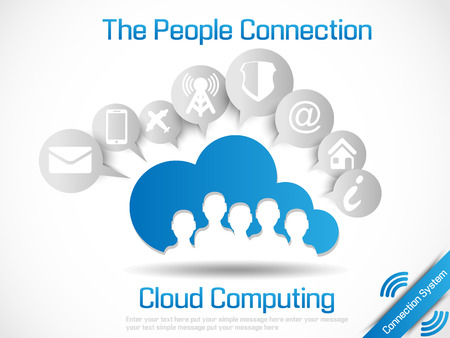 CLOUD COMPUTING WORLD PEOPLE CONNETTING