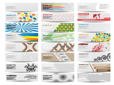 COLORFUL BANNER SET OF TWENTY-FOUR SET 4 Illustration