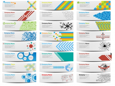 page decoration: COLORFUL BANNER SET OF TWENTY-FOUR