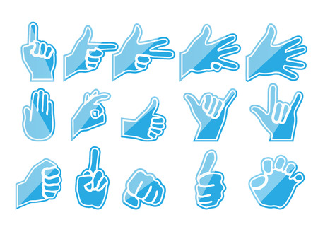 HAND BLUE Vector