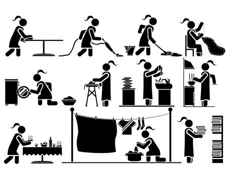 dish washing: ICONE MAN LAVORO CASA
