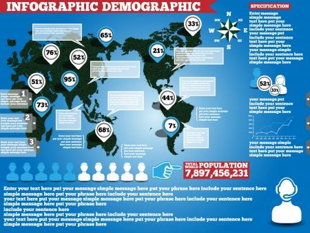 demografico: Infograf�a HIERBA ECOL�GICA DEMOGR�FICO Vectores