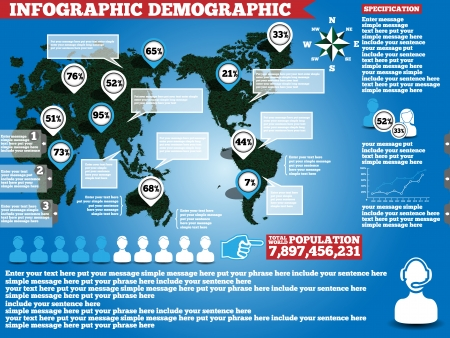 INFOGRAPHIC DEMOGRAPHIC ECOLOGICAL GRASS