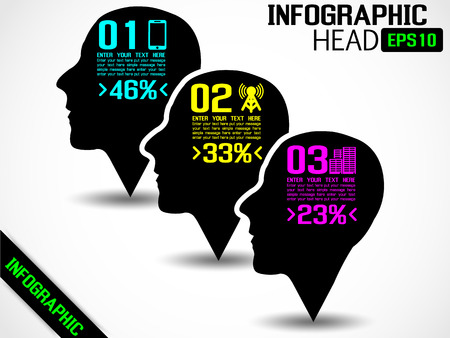 INFOGRAPHIC HEAD BLACK